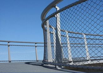 High Strength Metal Netting Mesh , SS 304 316 Wire Net Fencing For Schools